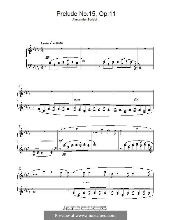 Twenty-Four Preludes, Op.11: introdução No 15 by Alexander Scriabin