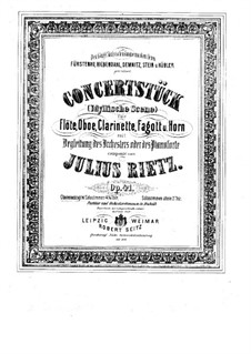 Concert Piece for Winds and Piano (or Orchestra), Op.41: Version for Winds and Piano by Julius Rietz