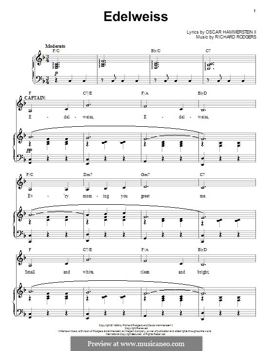 Edelweiss (from The Sound of Music): Para vocais e piano by Richard Rodgers