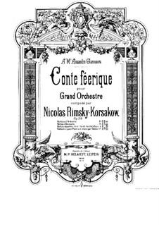 Fairytale, Op.29: para piano de quadro mãos by Nikolai Rimsky-Korsakov