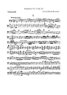 Symphony No.3 in C Major, Op.32: parte violoncelo by Nikolai Rimsky-Korsakov