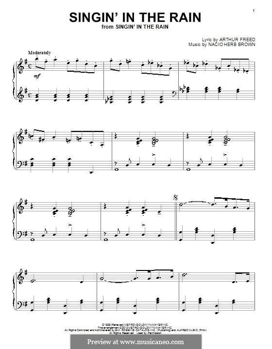 Singin' in the Rain (Gene Kelly): Para Piano by Nacio Herb Brown