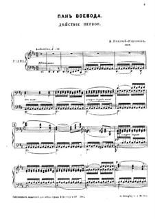 Pan Voyevoda, Op.59: ato I by Nikolai Rimsky-Korsakov