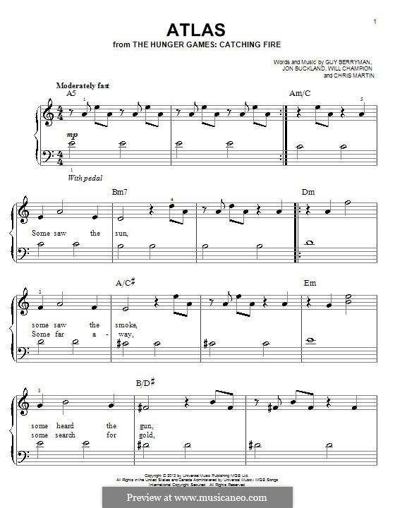 Atlas (Coldplay): Para Piano by Chris Martin, Guy Berryman, Jonny Buckland, Will Champion