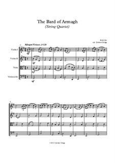 The Bard of Armagh: para quartetos de cordas by folklore