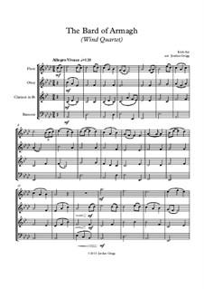 The Bard of Armagh: Para quarteto de sopro by folklore