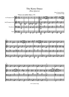 The Kerry Dance: para quarteto de bronze by James L. Molloy