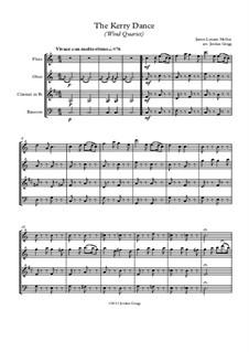 The Kerry Dance: Para quarteto de sopro by James L. Molloy