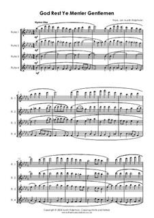 God Rest You Merry, Gentlemen: para quarteto de flauta by folklore