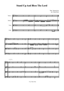 Stand Up and Bless the Lord (String Quartet): Stand Up and Bless the Lord (String Quartet) by Unknown (works before 1850)