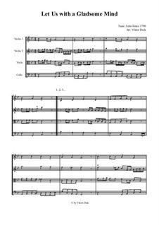Let Us with a Gladsome Mind (String Quartet): Let Us with a Gladsome Mind (String Quartet) by John Antes