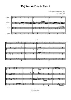 Rejoice, Ye Pure in Heart: para quartetos de cordas by Arthur Henry Messiter