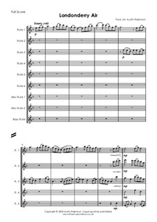 Danny Boy (Londonderry Air): For flute choir by folklore