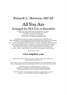 All You Are: All You Are by Ken Morrison