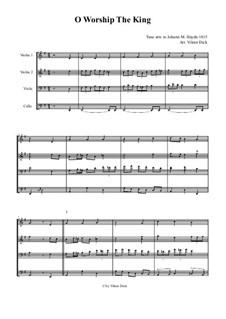 O Worship The King: para quartetos de cordas by Michael Haydn