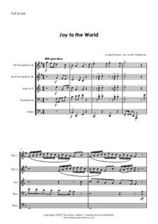 Joy to the World: Para quinteto de metais by Lowell Mason