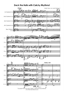 Deck the Hall: For clarinet quintet by folklore