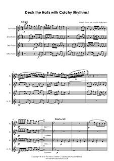 Deck the Hall: para quarteto de flauta by folklore