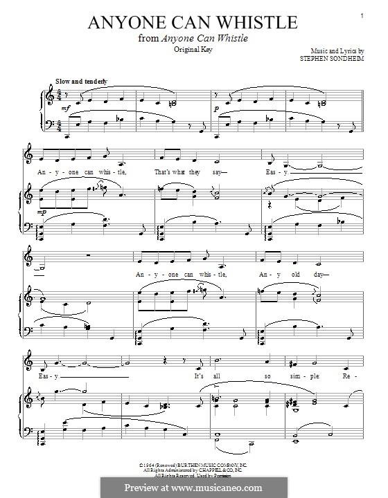 Anyone Can Whistle: Para vocais e piano by Stephen Sondheim