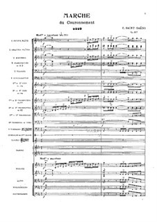 Coronation March, Op.117: Partitura completa by Camille Saint-Saëns