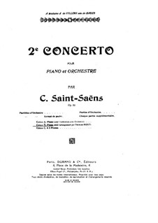 Concerto for Piano and Orchestra No.2 in G Minor, Op.22: Movimento I. versão para piano by Camille Saint-Saëns