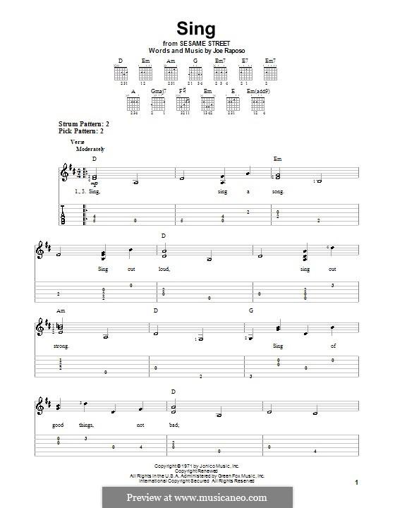 Sing (The Carpenters): Para guitarra com guia by Joe Raposo