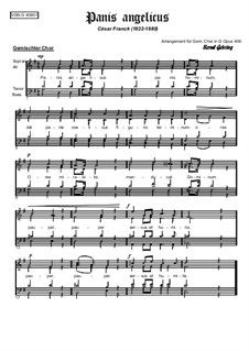 Panis Angelicus (O Lord Most Holy): para coro misto by César Franck