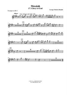 Fragments: No.17, 44, 48, 53 – trumpet in Bb 1 (transposed part) by Georg Friedrich Händel