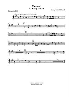 Fragments: No.17, 44, 48, 53 – trumpet in Bb 2 (transposed part) by Georg Friedrich Händel