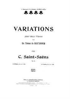 Variations on Theme by Beethoven, Op.35: Primeira parte, Segunda parte by Camille Saint-Saëns