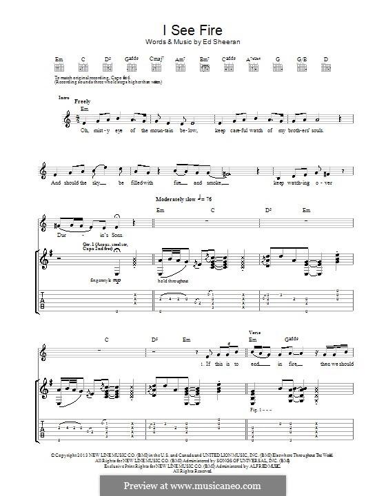 I See Fire (from The Hobbit): Para guitarra com guia by Ed Sheeran