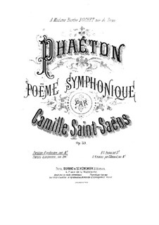 Phaeton, Op.39: Partitura completa by Camille Saint-Saëns