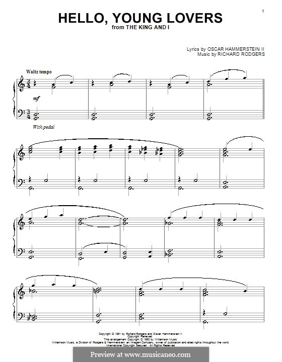 Hello, Young Lovers: Para Piano by Richard Rodgers