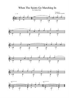 When the Saints Go Marching in: Para Guitarra by folklore