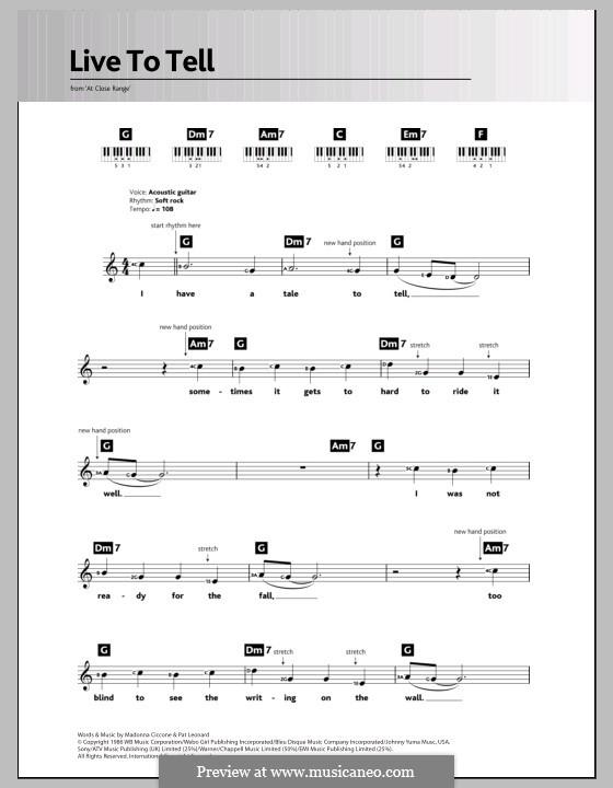 Live to Tell: para teclado by Madonna, Patrick Leonard