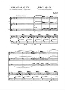 Birch Alley: For violins and piano by Eugen Doga