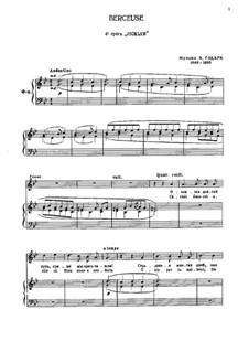 Berceuse: Para vocais e piano by Benjamin Godard
