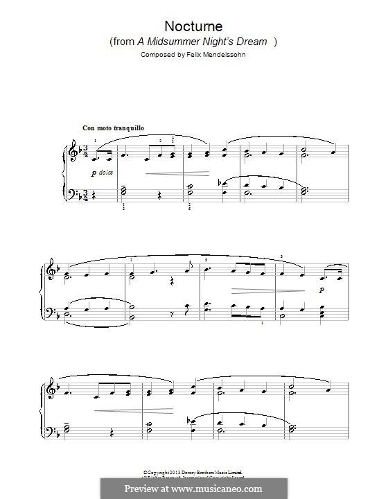 Nocturne: Para Piano by Felix Mendelssohn-Bartholdy
