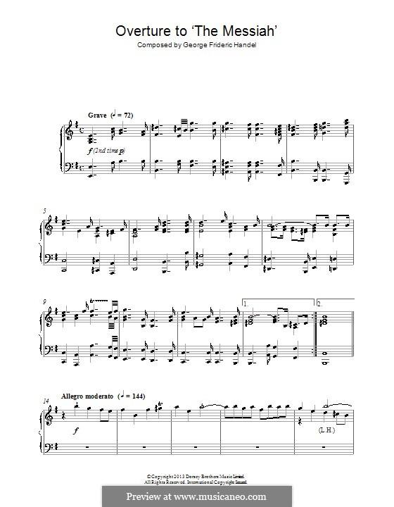 No.1 Overture: Para Piano by Georg Friedrich Händel