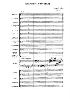 Rhapsodie d'Auvergne, Op.73: Partitura completa by Camille Saint-Saëns