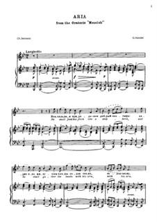 No.20 He Shall Feed His Flock : Para vocais e piano by Georg Friedrich Händel
