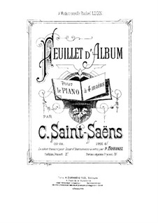 Feuillet d'album, Op.81: Primeira parte, Segunda parte by Camille Saint-Saëns