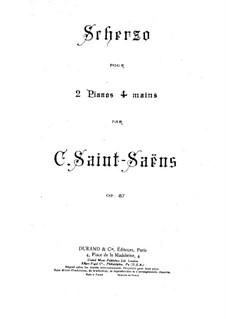 Scherzo, Op.87: dois pianos de quatro mãos by Camille Saint-Saëns