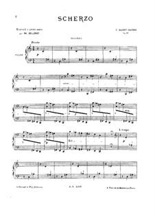 Scherzo, Op.87: para piano de quadro mãos by Camille Saint-Saëns