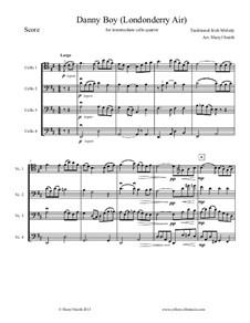 Ensemble version: For intermediate/advanced cello quartet (four cellos) by folklore