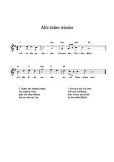 Alle Jahre wieder: Para Guitarra by Friedrich Silcher