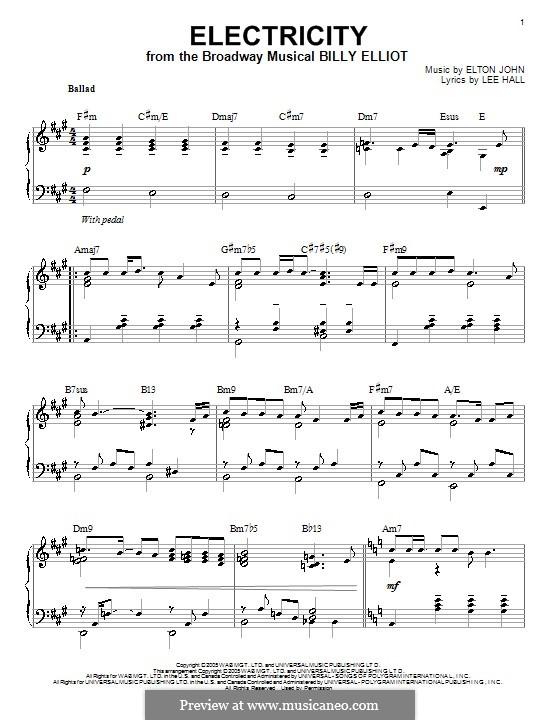 Electricity: Para Piano by Elton John
