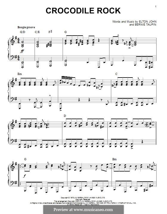 Crocodile Rock: Para Piano by Elton John