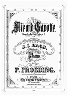 Aria and Gavotte: versão para piano by Johann Sebastian Bach