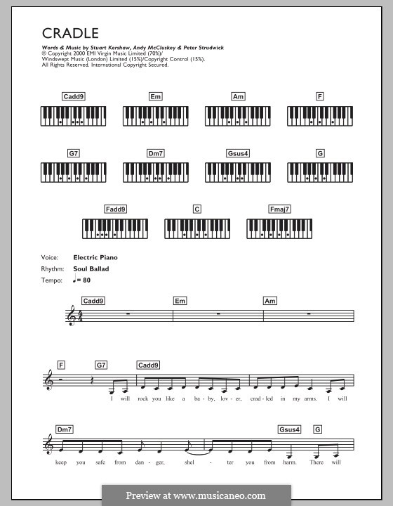 Cradle (Atomic Kitten): para teclado by Andy McCluskey, Stuart Kershaw, Peter Strudwick